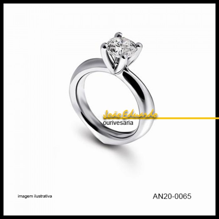 Anel de Solitário 35 pontos AN20-0065-35   Alianças de Casamento ... 5d0a143a6b