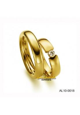 Aliança Diamante 15 Pontos AL10-0018