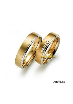 Alianças 5 Diamantes AL10-0058