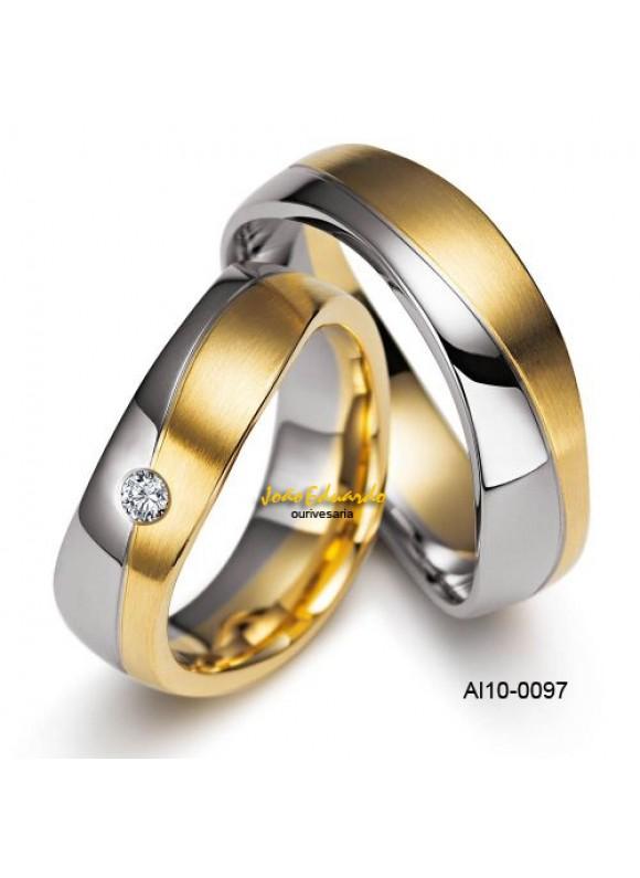 Aliança 2 Amores AL10-0097