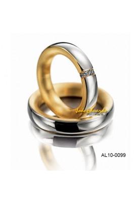 Aliança Exótica 5 Diamantes AL10-0099