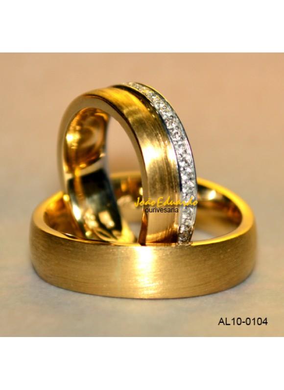 Aliança 45 Diamantes AL10-0104
