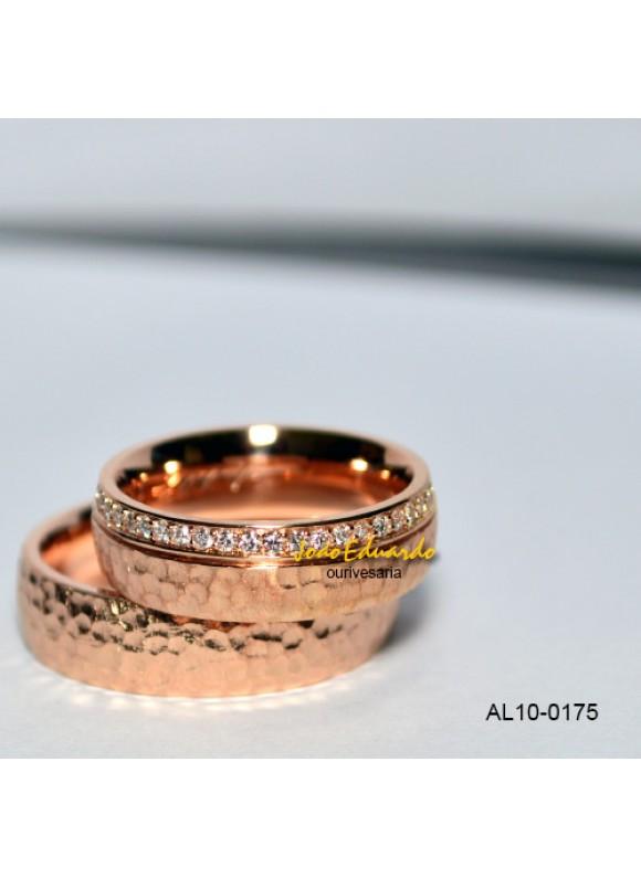 "Aliança ""Martelada"" AL10-0175"