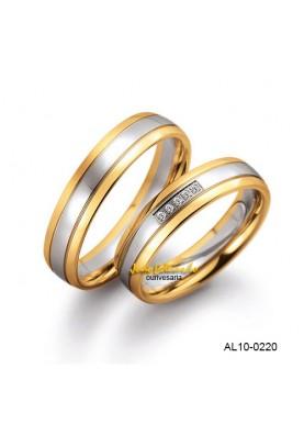 Alianças Duas Cores  AL10-0220