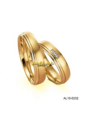 Alianças 3 Diamantes AL10-0231