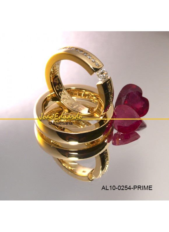 Aliança Diamantes 75 Pts  AL10-0254-P