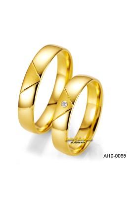 """Aliança """"Envelope"""" AL10-0065"""